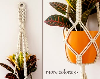 Macrame Plant Hanger, Hanging Planter, Macrame Plant Holder, Pot Hanger, Plant Holder, Cotton Hanging Planter, Macrame Pot Hanger