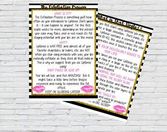 LipSense Tingle Printable & Exfoliation Process Printable | Marketing|Instant Download | SeneGence Printable | LipSense Marketing Material