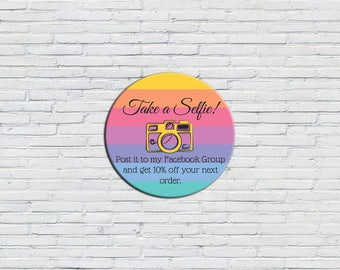 Take a Selfie Sticker | Packaging Stickers, Snap a Selfie, Fashion Consultant Marketing, Independent Sales Rep, LLR Selfie Sticker, Lula