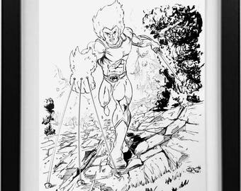 Lion-O Ink Drawing