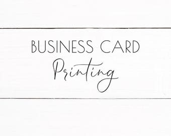 Business Card Printing - Add On