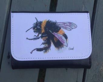 Bumblebee bee Art purse great gift idea