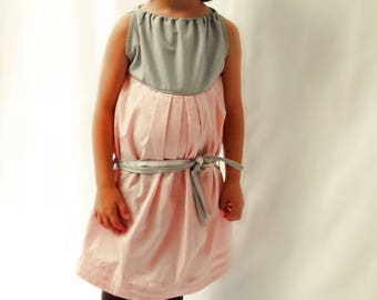 Emma: a romantic dress for small, large tunic!  -6 years, 8, 10, 12 years