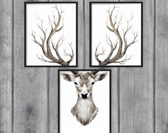 Deer print   Etsy