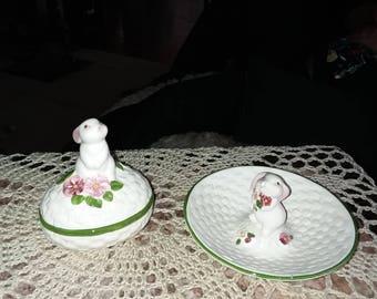 Avon Easter trinket dishes
