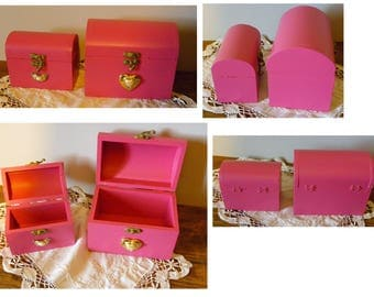 TWO BOXES JEWELRY - TREASURE BOXES