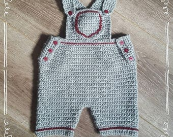 Baby Dungarees. size 0-3 months.