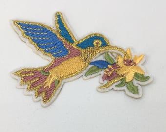 Hummingbird - Iron on Appliqué Patch