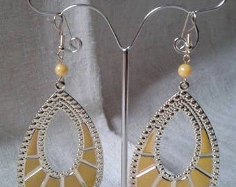 "Earrings ""duo of gold and yellow"""