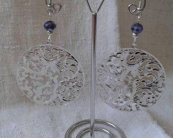 """""""large floral charm"""" earrings"""