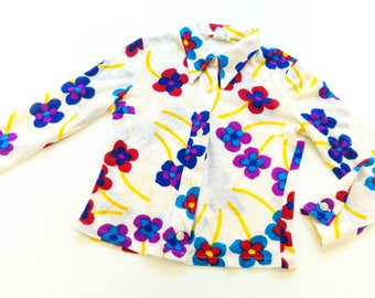 GiRlS vinTage BloUse size 3Y reTro 70s hipPie BluSe 92/98 hiPster