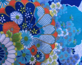 Gorgeous Sky Blue Japanese Print Quilting Fabric, 6-Yard Piece