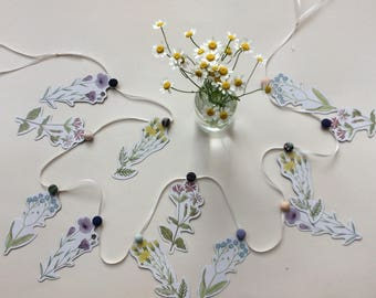 Wild flower card  garland