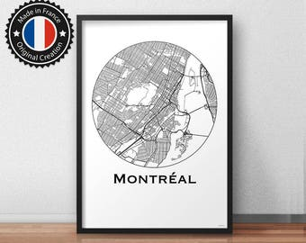 Poster Montreal Canada Minimalist Map - City Map