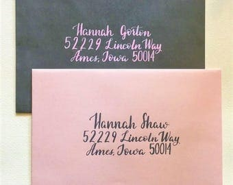 Hand Addressed Envelopes | Custom Calligraphy Invitations | Wedding Invitations