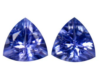 0.74 carats Superb Tanzanite Trillion cut pair Gemstone @ Republic of Tanzania