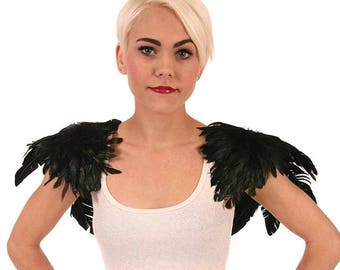 Crow Feather Wings - Black Zucker Feather Place Original Designs