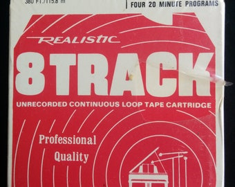 Realistic 80 Minutes Recording Tape - 8 Track Tape - SEALED Condition
