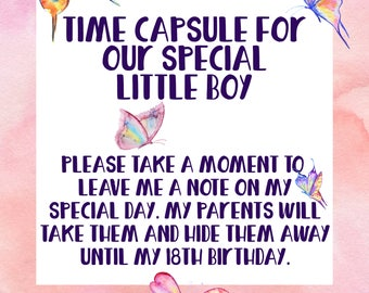 Time Capsule, First Birthday Time Capsule, Butterfly Party, Garden Party, 1st Birthday, Spring Birthday Party, Spring Birthday, Girl Party