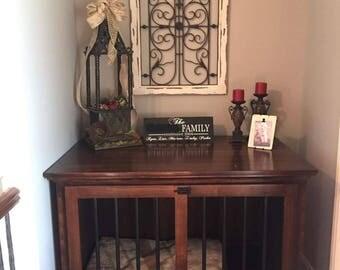 French Door Dog Kennel // K9 Cabinet // Fine Furniture // Custom Furniture