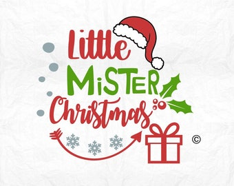 Little mister christmas SVG Clipart Cut Files Silhouette Cameo Svg for Cricut and Vinyl File cutting Digital cuts file DXF Png Pdf Eps