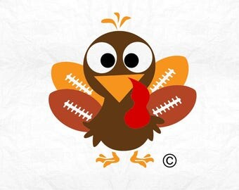 football turkey thanksgiving  SVG Clipart Cut Files Silhouette Cameo Svg for Cricut and Vinyl File cutting Digital cuts file DXF Png Pdf Eps