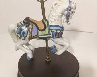 Vintage Wind Up Musical Horse
