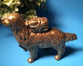 Antique A.C. Williams Cast Iron Bank Rescue Dog/ Saint Bernard.
