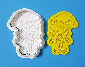 Elf Girl Cookie Cutter and Stamp