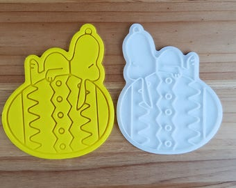 Snoopy on the Easter Egg  Cookie Cutter and Stamp