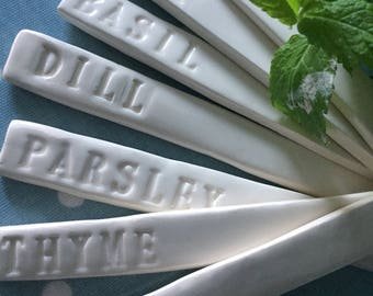 Herb Planter Stakes / Labels