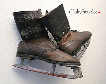 Vintage ancient great skates leather