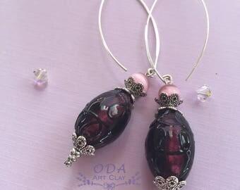 Purple Grape Earrings