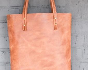 Shopper leder women, Leather handbag, Tote bag, Women bag, Laptop bag, Women computer bag, Brown leather bag