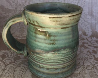 Ceramic mug, coffee mug, stoneware mug, green mug, #coffeemug
