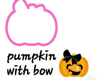 pumpkin with bow