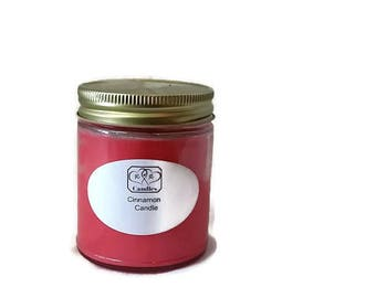 Soy Wax Candle Cinnamon Scented