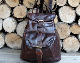black leather backpack-leather rucksack-leather backpack men women-travel school office rucksack-vintage leather backpack purse-large size