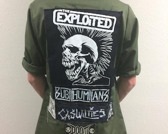 Mens explioted punk jacket