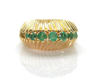 Seashell ring Emerald - reserved