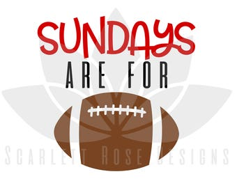 Sundays are for Football, SVG, football pattern cut file for silhouette cameo and cricut