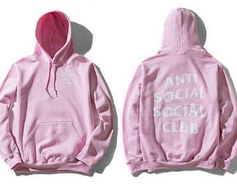 PINK ASSC Hoodie : Limited Anti Social Social Club Hooded Sweatshirts