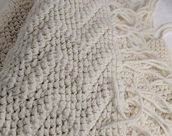 Handmade Blanket Handmade Afghan Granny Blanket Granny Square Blanket Vintage Throw Granny Throw Stroller Blanket