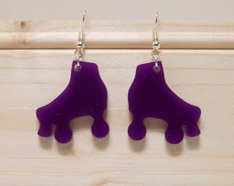 Roller Skate / Roller Derby Earrings