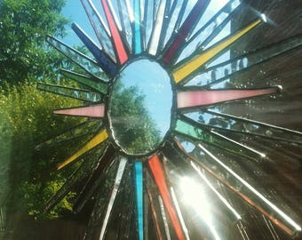 Tiffany style Stained Glass Rainbow Sun