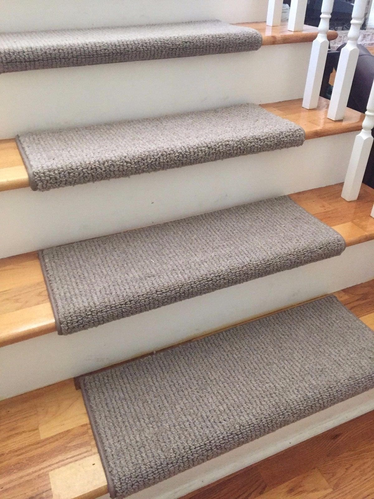 Laredo Corde Taupe New Zealand Wool True Bullnose Carpet