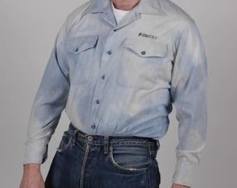 True vintage 1950's US Navy cotton Naval Shirt