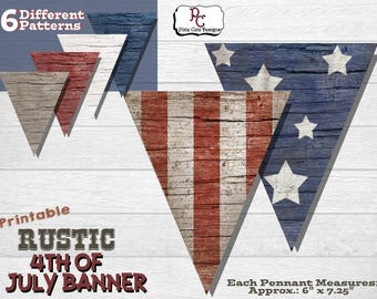 Printable Rustic 4th of July Banner