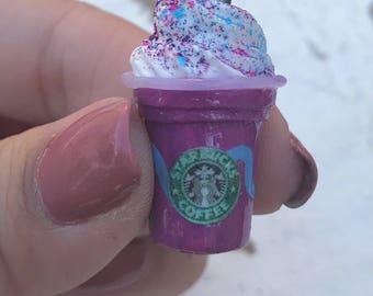 Starbucks Inspired Unicorn Frappuccino/ Charm/Necklace