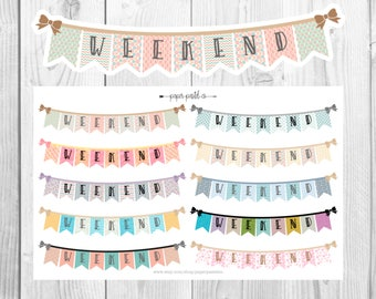 Weekend Banners for use with Erin Condren Life Planner™, Recollections Planner